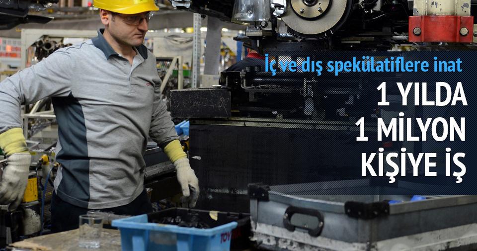 1 yılda 1 milyon kişiye iş