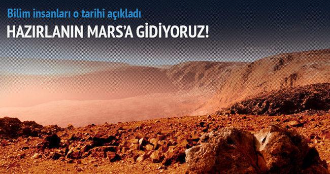 Mars'a yerleşim için tarih verdi
