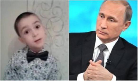 4 yaşındaki çocuktan Putin'e gülümseten soru