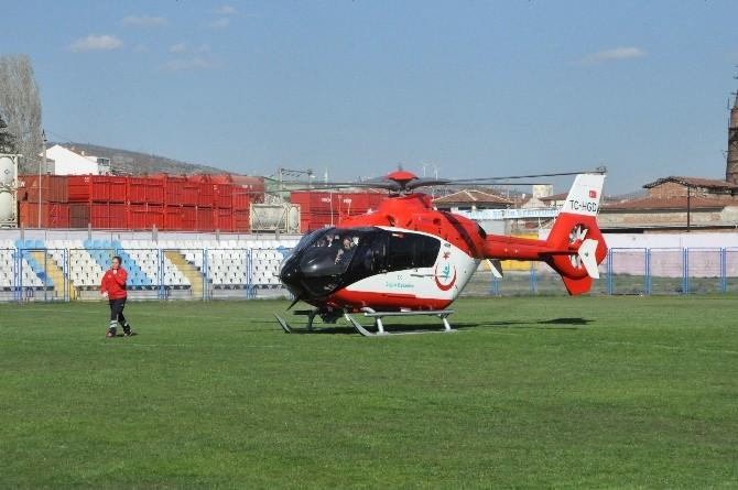 Bozüyük'te Küçük Bartu, Helikopter Hava Ambulans İle Bolu'ya Sevk Edildi