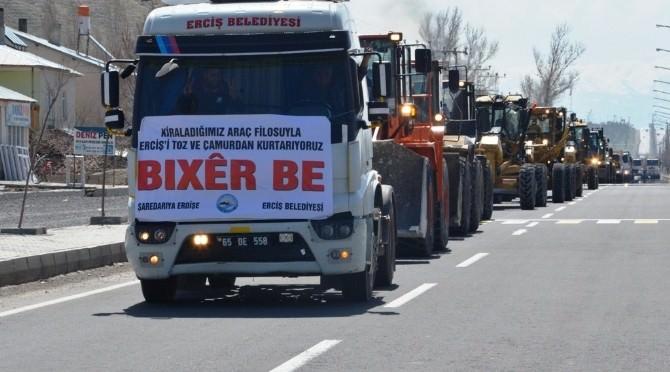 Erciş Belediyesi Kiraladığı Araçları Görücüye Çıkarttı