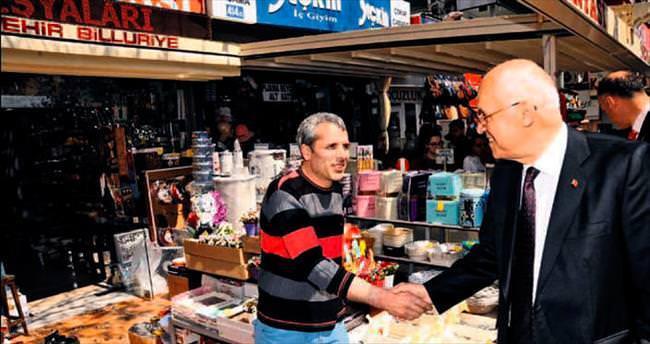 Yenimahalle esnafı Başkan Yaşar'ı ağırladı