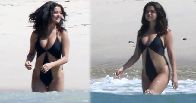 Selena Gomez fazla kilolarını böyle sakladı