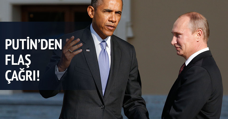 Putin'den ABD'ye çağrı