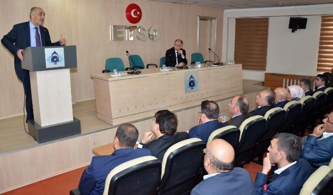 Efkan Ala, ETSO Meclisi'ne Konuştu