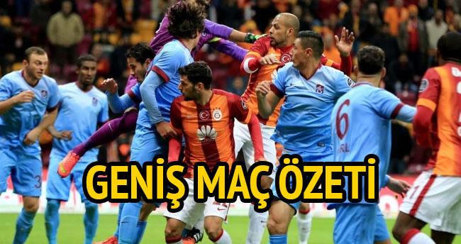Trabzonspor — Galatasaray maçı özeti ve golleri (GENİŞ—ÖZET)