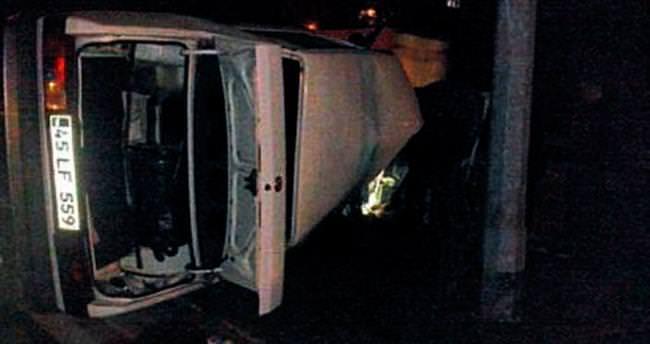 Salihli'de otomobil takla attı: 1 ölü