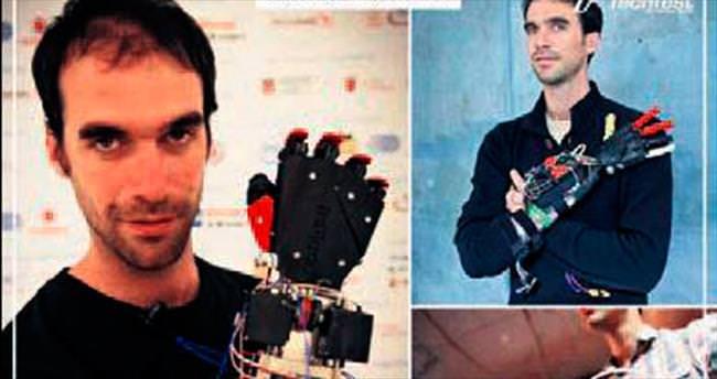 Kendine robot protez kol yaptı