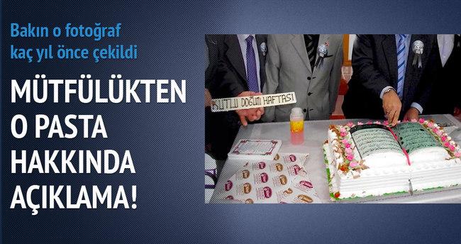 Tokat Müftülüğü'nden Kur'an-ı Kerim tasarımlı pasta açıklaması