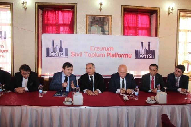 Ala Ve Adaylar Erzurum Sivil Toplum Platformu'nu Ziyaret Etti