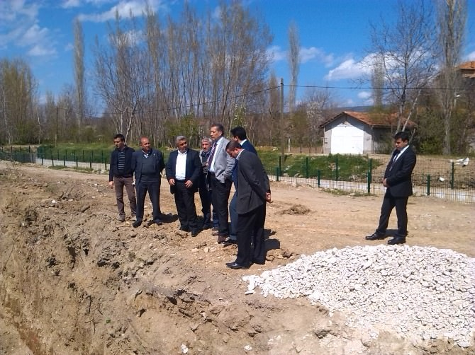Genel Sekreter Şahin, Hisarcık'ta İncelemelerde Bulundu