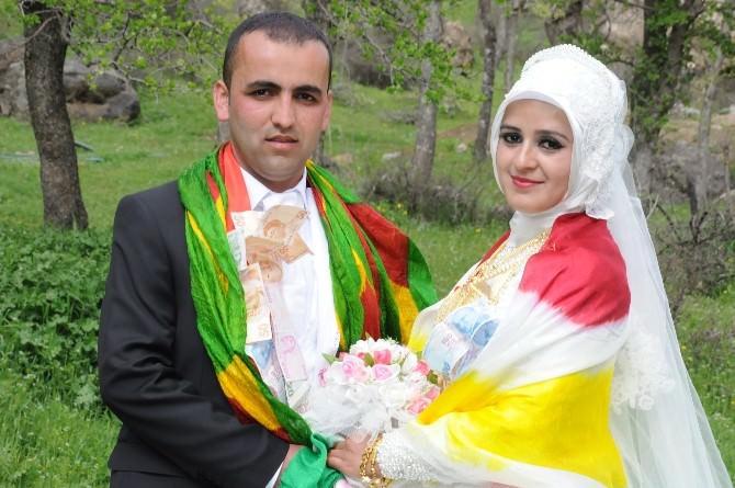 Çimenli Köyünde Sezonun İlk Düğünü Yapıldı