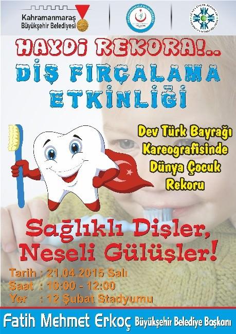 Binlerce Çocukla Diş Fırçalama Rekoru