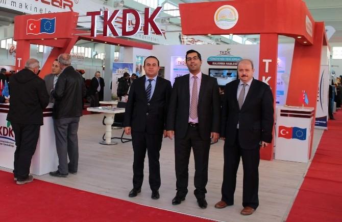 """TKDK Başkanı Nazlı'dan """"4. Tarım Hayvancılık Ve Teknolojileri Fuarı""""na Ziyaret"""