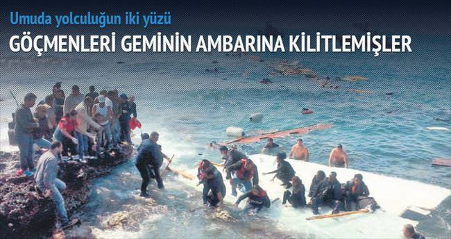 '250 kaçak teknenin ambarında kilitliydi'