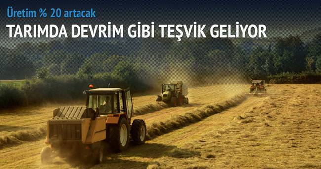 Tarımda ürüne devrim gibi teşvik