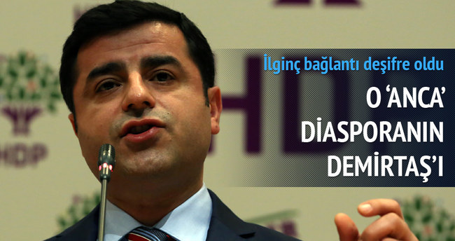 Diasporanın çatısı HDP'li Demirtaş