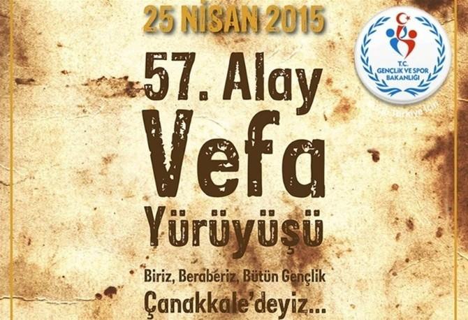 57. Alay Vefa Yürüyüşüne Malatya'dan 90 Genç Katılıyor