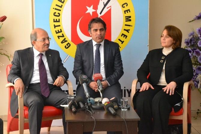 AK Parti Milletvekili Adaylarından Gazeteciler Cemiyetine Ziyaret