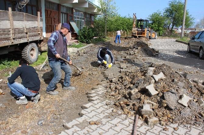 Akçakoca'da Kilit Parke Çalışmaları Hızlandırıldı