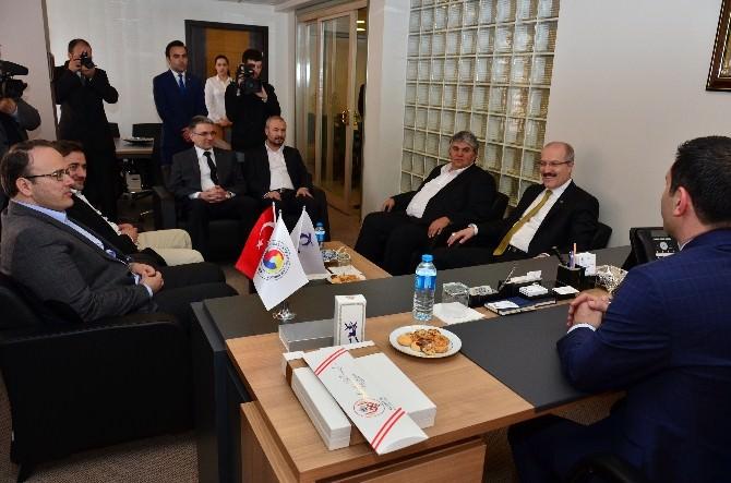 Başkan Kafaoğlu Bto'yu Ziyaret Etti