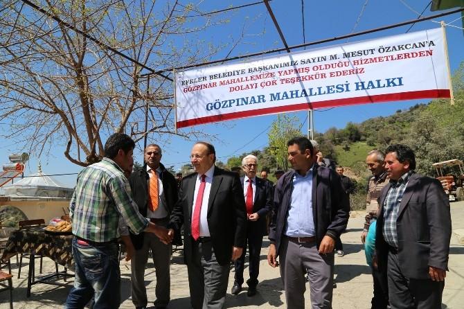 """Başkan Özakcan; """"Yolları Edivedik"""""""