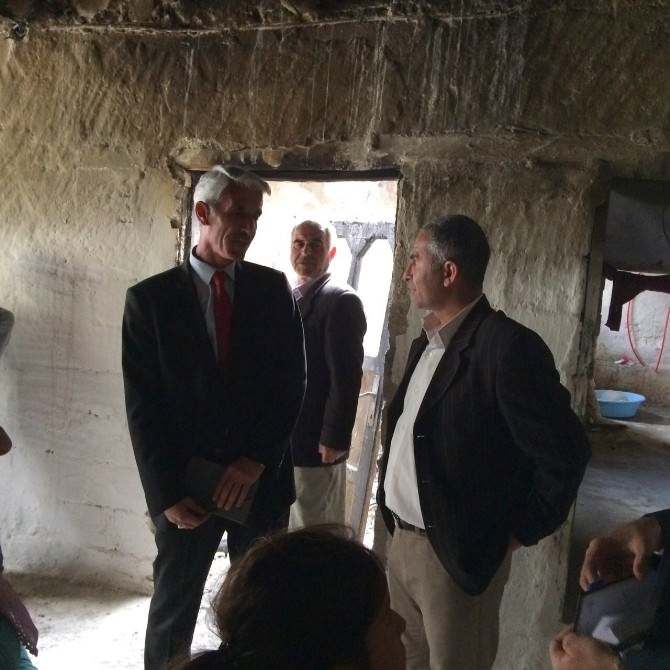 ASP İl Müdürlüğü'nden Evi Yanan Turan Ailesine Ziyaret