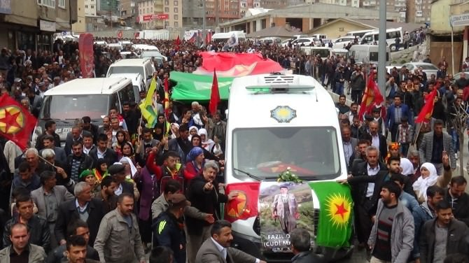 YPG'li Cudi, Hakkari'de Toprağa Verildi