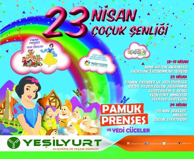 Yeşilyurt AVM Mini Club'ta 23 Nisan Çocuk Şenliği