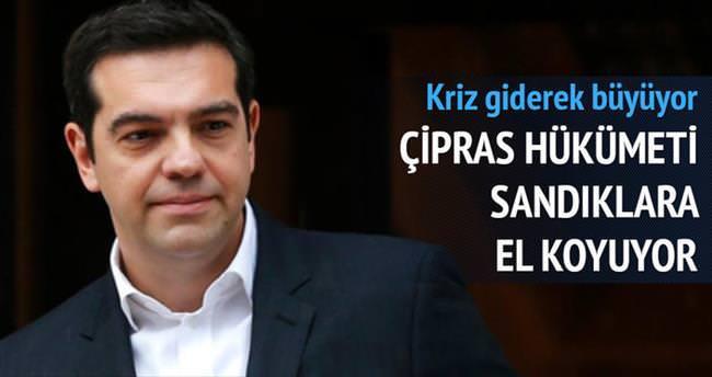 Yunan hükümeti sandıklara el koyuyor