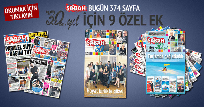 Sabah gazetesi 30 yaşında 374 sayfa