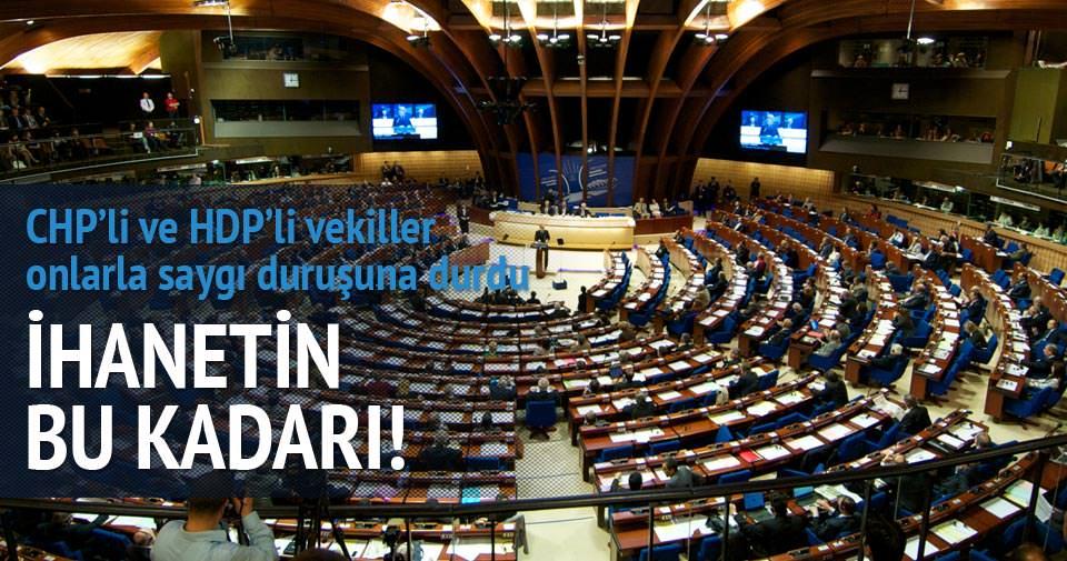 Avrupa'da CHP VE HDP'liler 'sözde soykırım' için saygı duruşunda durdular