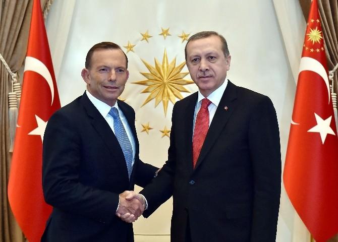 Cumhurbaşkanı Erdoğan, Avustralya Başbakanı Abbott'u Kabul Etti