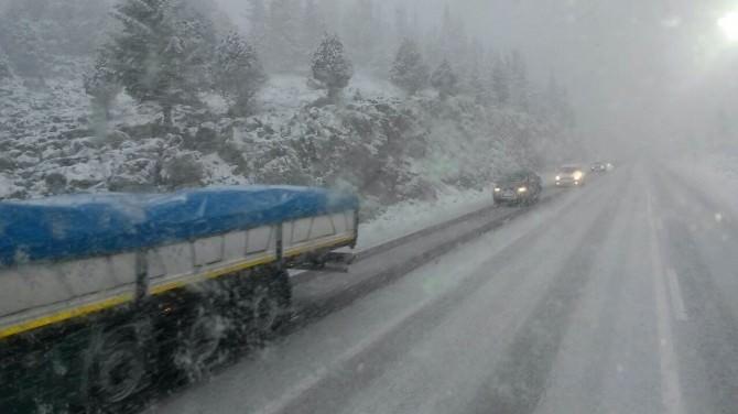 Seydişehir Antalya Yolunda Ulaşıma Kar Engeli