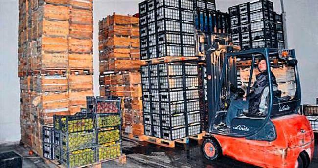 Korkuteli'deki elma ihracatı sona geldi