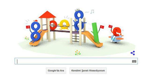 23 Nisan Ulusal Egemenlik ve Çocuk Bayramı Google tarafından kutlandı