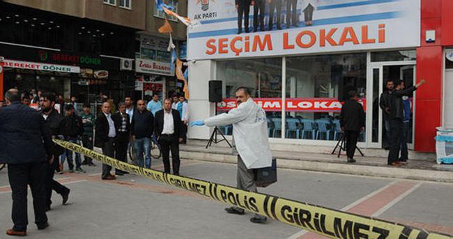 AK Parti seçim bürosu saldırısında 2 kişi gözaltına alındı