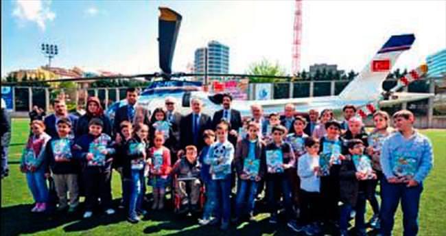Bağcılar'da 23 çocuğa helikopter turu