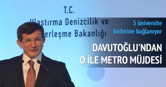 Başbakan Davutoğlu'ndan Konya'ya metro müjdesi