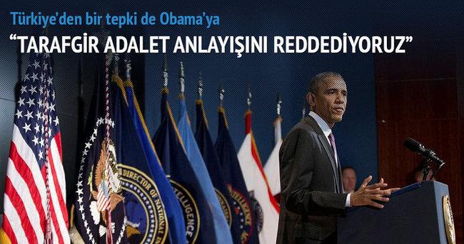 Türkiye'den Obama'ya sert tepki
