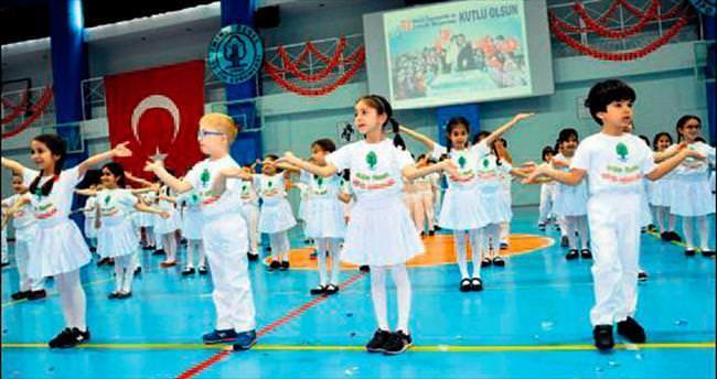'Örnek'li çocukların kutlaması