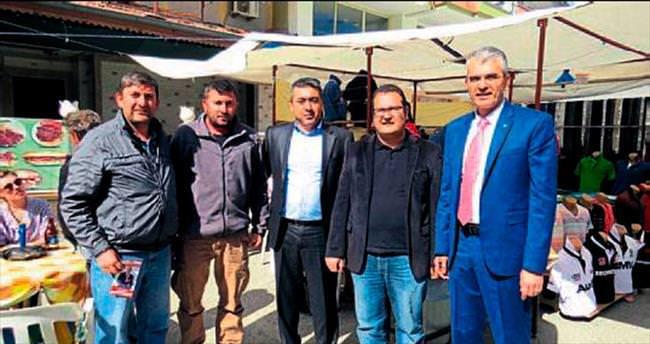 MHP'nin adayları esnafı dinledi
