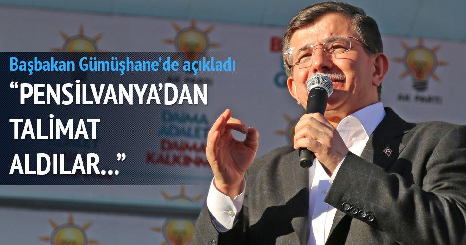 Başkaban Davutoğlu: Pensilvanya'dan talimat aldılar