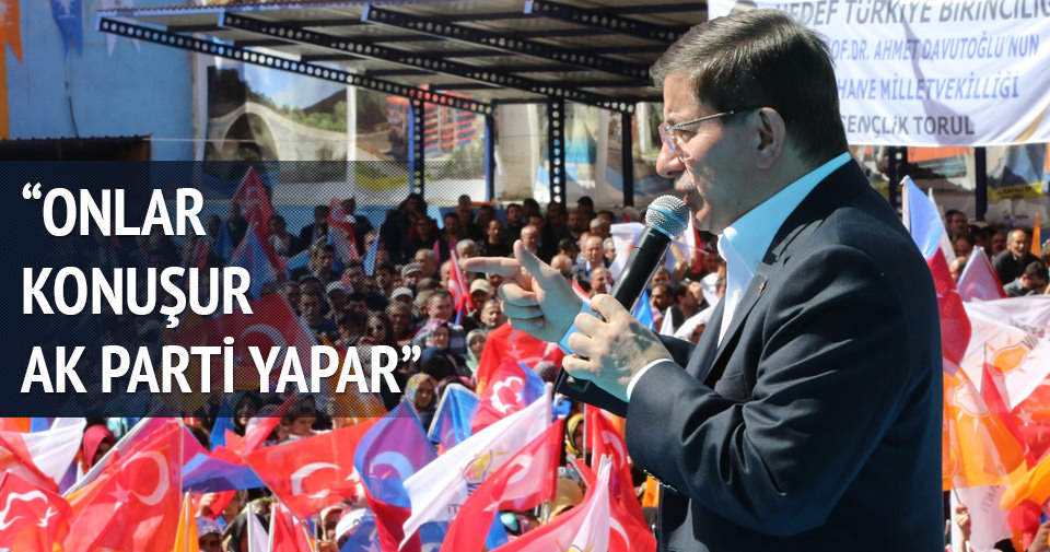 Başbakan Davutoğlu Bayburt'ta konuştu