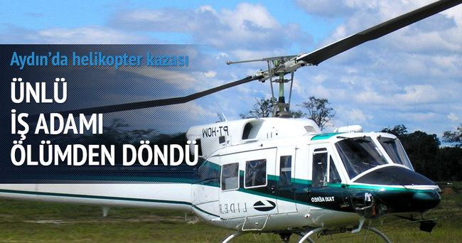 Zorlu'nun helikopteri, arıza nedeniyle zorunlu iniş yaptı