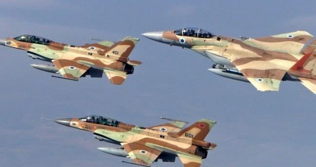 İsrail savaş uçakları Suriye sınırını bombaladı
