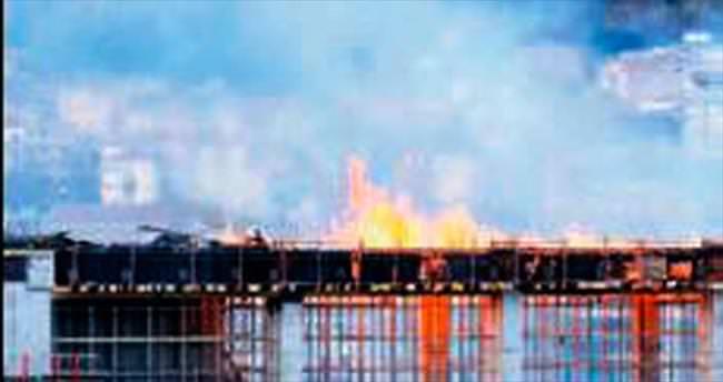 YHT Ankara Garı inşaatında yangın