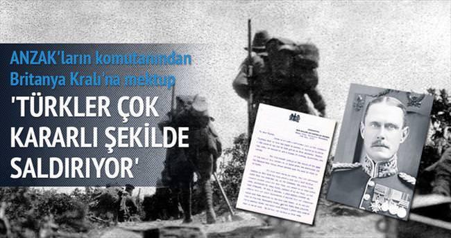 Türkler çok kararlı şekilde saldırıyor