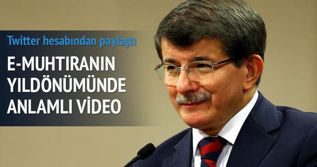 Başbakan Davutoğlu'ndan anlamlı video