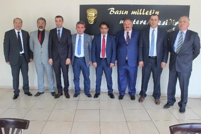 Kosb Başkan Adayı Nursaçan'dan Gazeteciler Cemiyetine Ziyaret